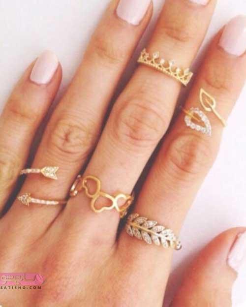 طرح های خاص از مدل جدید انگشتر دخترانه