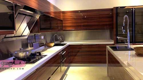 کابینت هایگلاس آشپزخانه جدید
