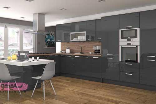 مدل کابینت مشکی مناسب انواع آشپزخانه