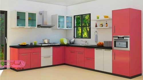 مدل کابینت آشپزخانه با رنگبندی شاد و جذاب