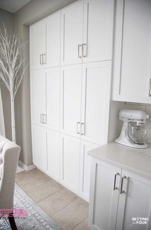 کابینت سفیدرنگ آشپزخانه
