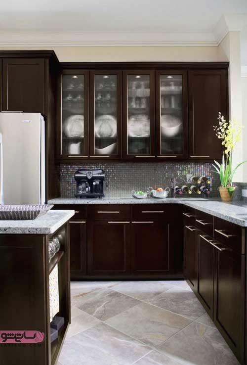 طرح کابینت آشپزخانه جدید با فشن 98
