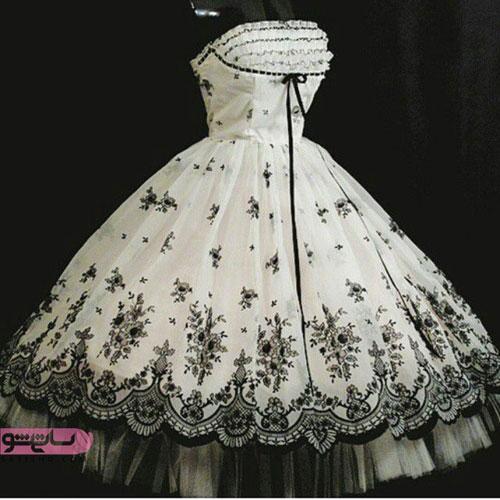 لباس مجلسی دکلته زنانه
