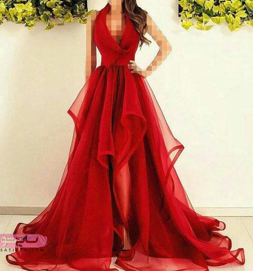 مدلهای لباس شب قرمز رنگ