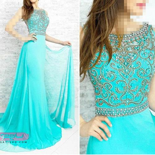 لباس شب فیزوزه ای با طرح دانتل