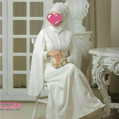 مدل مانتو سفید مخصوص مراسم عقد