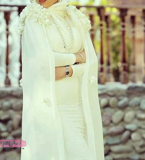 مدل لباس محضر به رنگ سفید