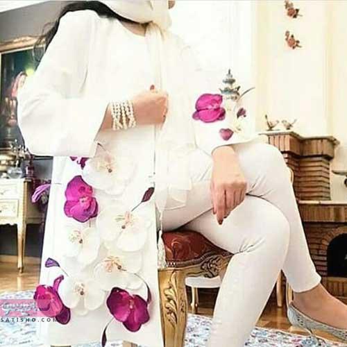 مدل مانتو گلدوزی شده شیک برای عقد