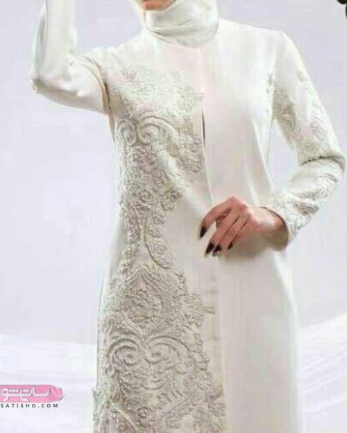 لباس مجلسی سفید عقد محضری