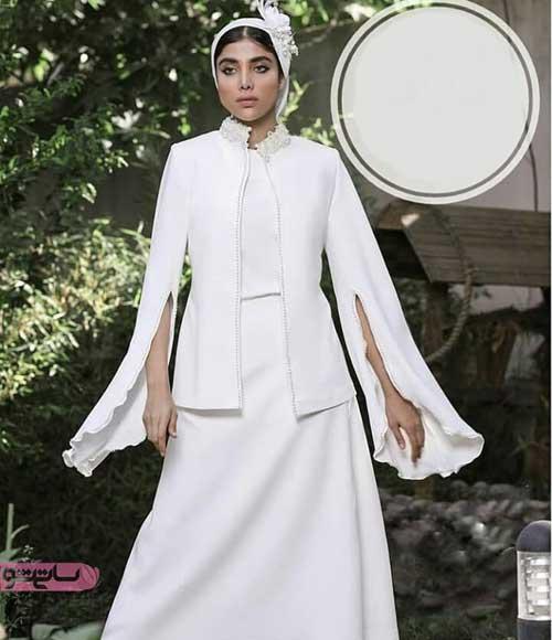 مدل مانتو سفید برای عقد جدید