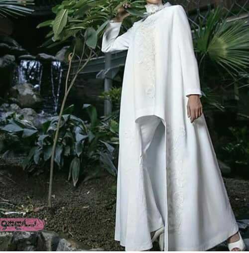 مدل مانتو سفید با طراحی جدید روز
