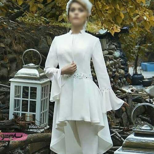 مانتو سفید عروس مناسب محضر و مراسم نامزدی