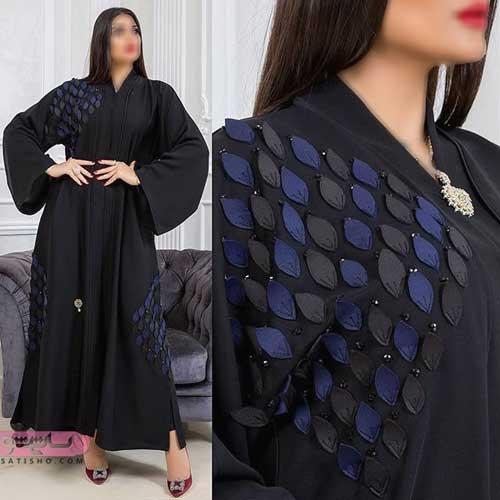 مدل مانتو عبایی عربی بلند مشکی