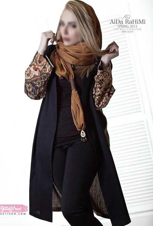 مدل مانتو زنانه گیپور مشکی کوتاه 98