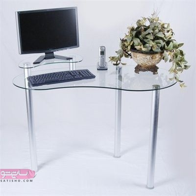 میز کامیپوتر جدید طرح شیشه و گلدان