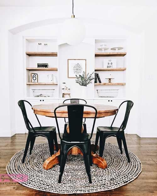 مدل میز نهارخوری گرد | جدیدترین عکس های میز نهارخوری گرد 2019