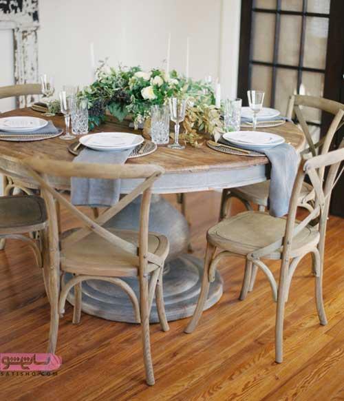 مدل میز نهارخوری برای تراس و روف گاردن