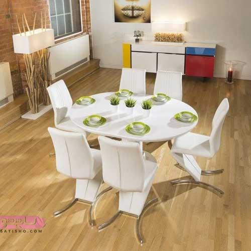 مدل میز نهارخوری گرد با شکل های مدرن و جدید 98