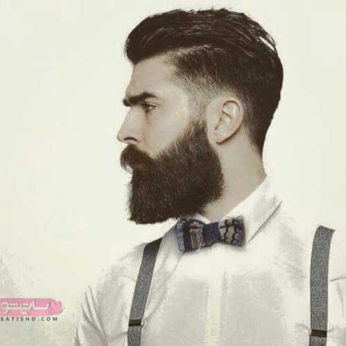 مدل مو مردانه بغل کوتاه با ریش بلند برای مجلس