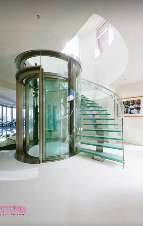 پله شیشه ای برای خانه