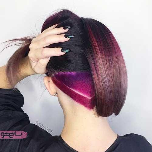 رنگ موی فانتزی ۲۰۱۹ بنفش رنگ زیبا