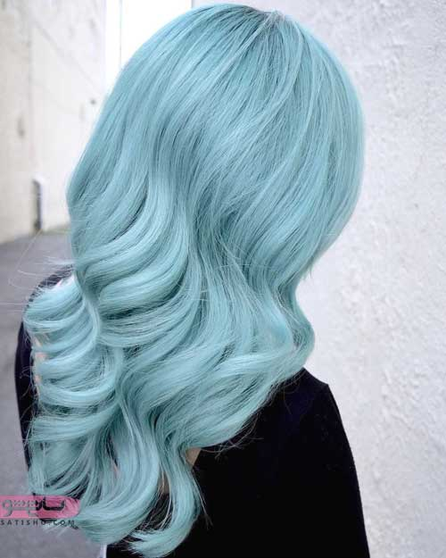 ایده ی فانتزی و فوق العاده زیبا رنگ مو