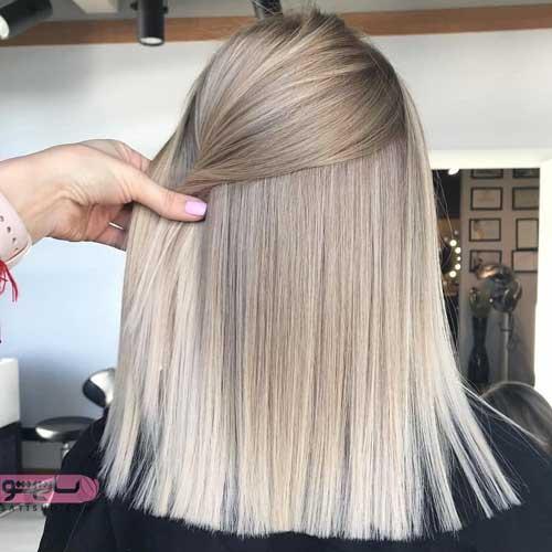 تصاویری از رنگ موی خاکستری روشن