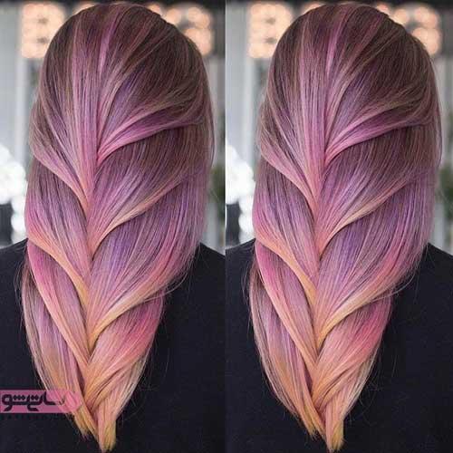 هایلایت روشن روی موهای تیره