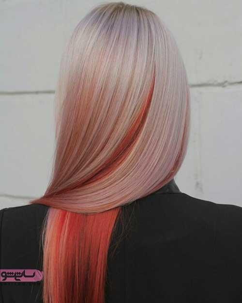 رنگ مو تابستانه هایلایت تیره