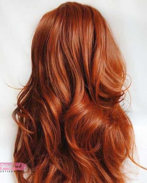انواع مدل از رنگ موی کاراملی
