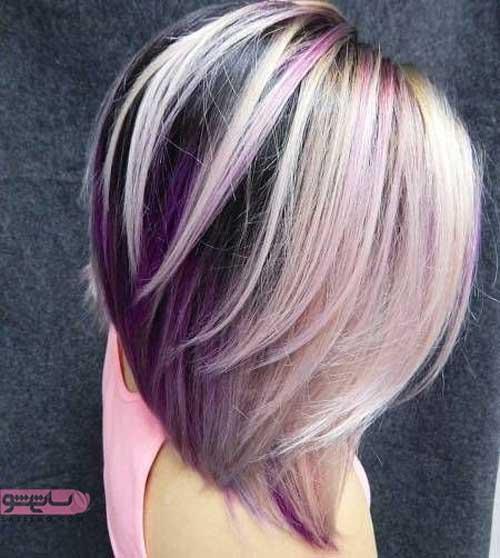عکس هایی بروز از انواع رنگ مو مخصوص موهای کوتاه
