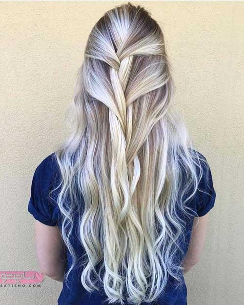 تصاویری خاص از رنگ موی زنانه جدید مسی