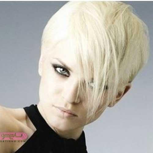 رنگ مو جدید دخترانه ویژه موهای کوتاه رنگ روشن
