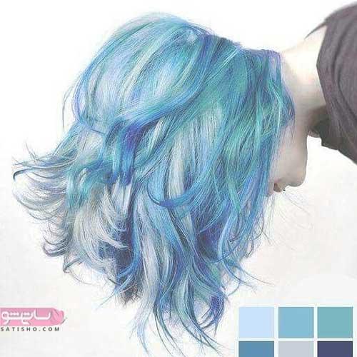 ترکیب رنگ مو زنانه جدید