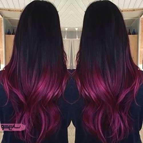 رنگ مو برای مدل های فشن