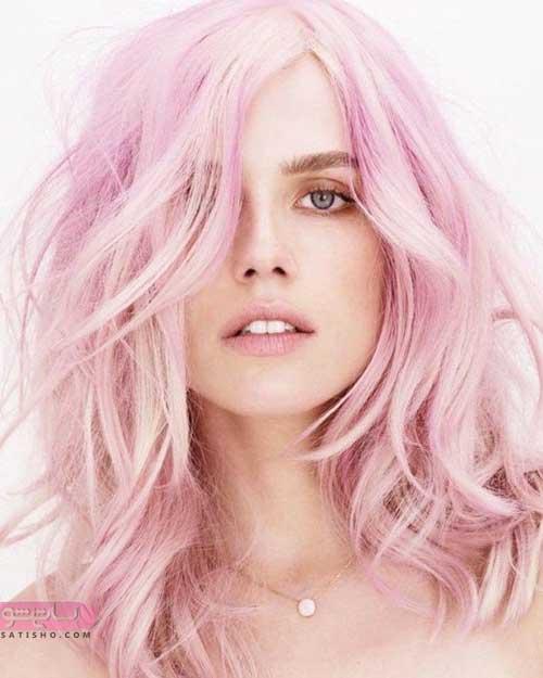 مدل مو کوتاه با رنگ های زیبا و جذاب برای عید