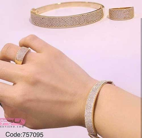 سرویس انگشتر و دستبند بدل دخترانه
