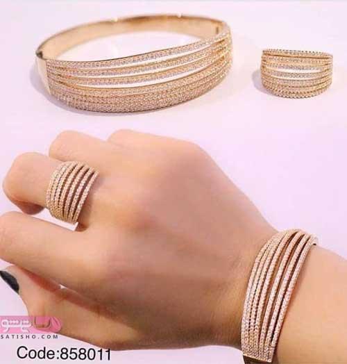 عکس ست انگشتر و دست بند بدل زنانه