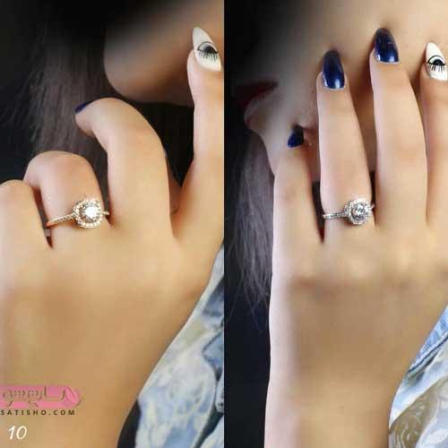 طرح هاي برجسته از انگشتر های دخترانه نگین دار شیک و جذاب