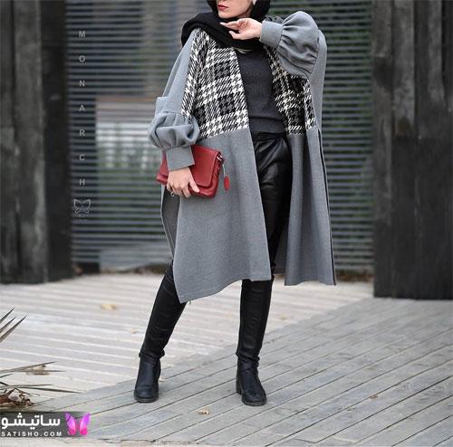 مدل مانتو بلند جلو باز دخترانه جدید