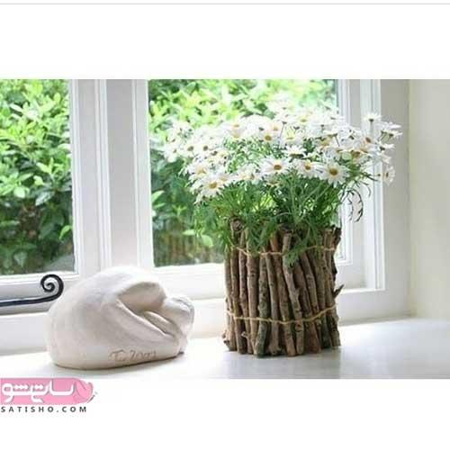 ساختن زیباترین گلدان با تکه های چوب