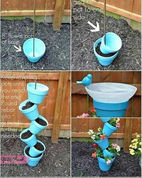 ایده جدید برای ساخت گلدان خلاقانه در منزل