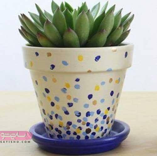 ایده ساخت استند گلدان