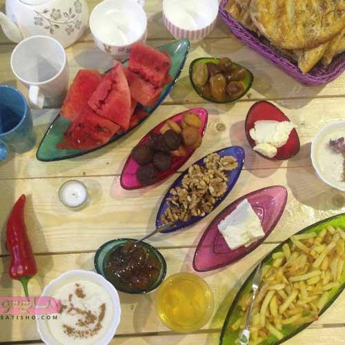 سفره افطاری ساده ماه رمضان