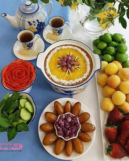 دیزاین خرما و میوه آرایی برای افطار