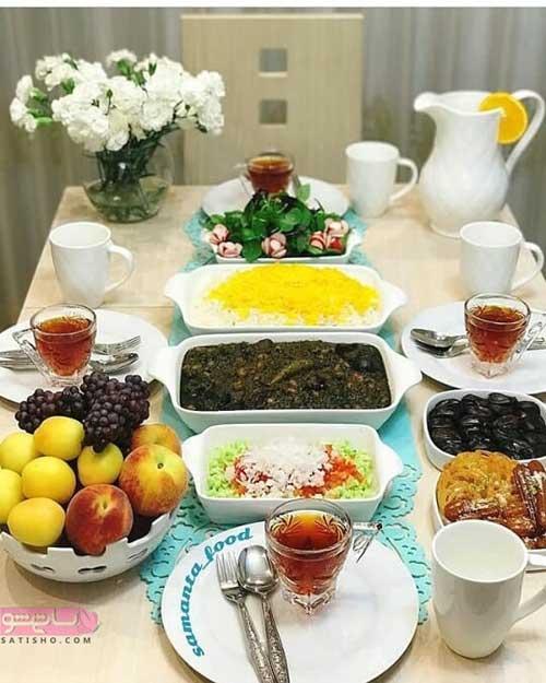 چیدمان جدید سفره افطاری رمضان 98