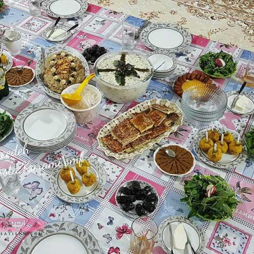 🛑 جدیدترین عکس تزیین سفره افطار برای ماه رمضان سال 1400
