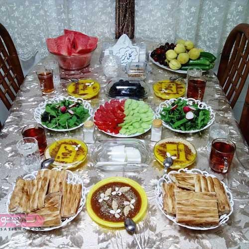 عکس تزیین سفره افطار ماه رمضان 98
