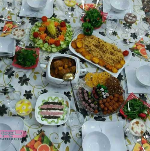 چیدمان سفره افطار برای ماه رمضان