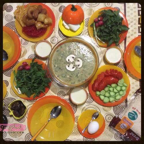 سفره افطار برای ماه رمضان به صورت ساده